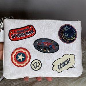 Coach x Marvel Large Gallery Wristlet Wallet